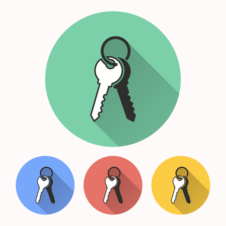Key vector icon. Illustration isolated for graphic and web design.
