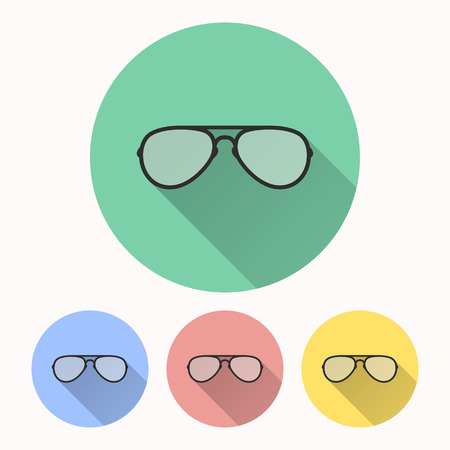 Glasses vector icon. Illustration isolated for graphic and web design. Illustration