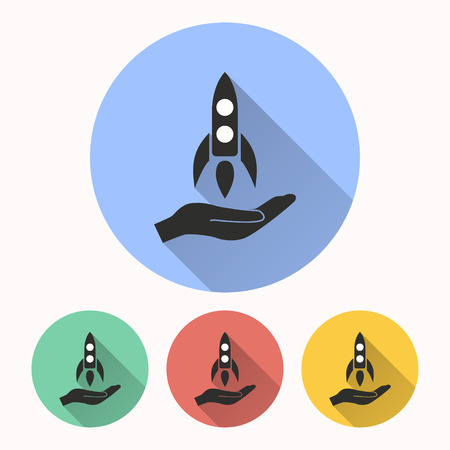 entrepreneurship: Start up vector icon. Illustration isolated for graphic and web design.