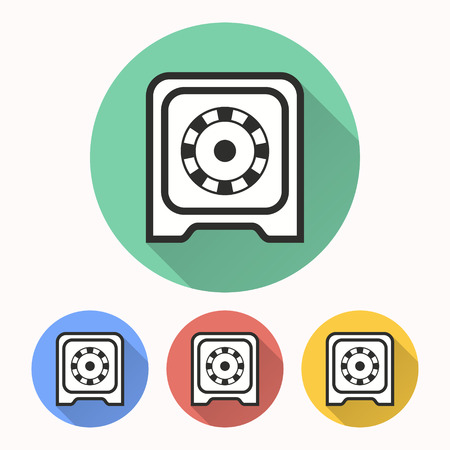 classified: Safe vector icon. Illustration isolated for graphic and web design. Illustration