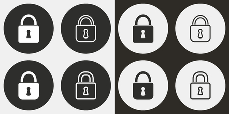 Lock vector icons set. Illustration isolated for graphic and web design. Illustration