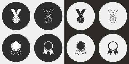 Award vector icons set. Illustration isolated for graphic and web design.