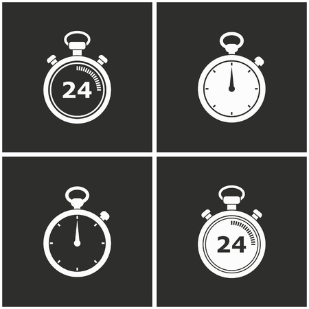 Stopwatch vector icons set. Illustration isolated for graphic and web design. Illustration