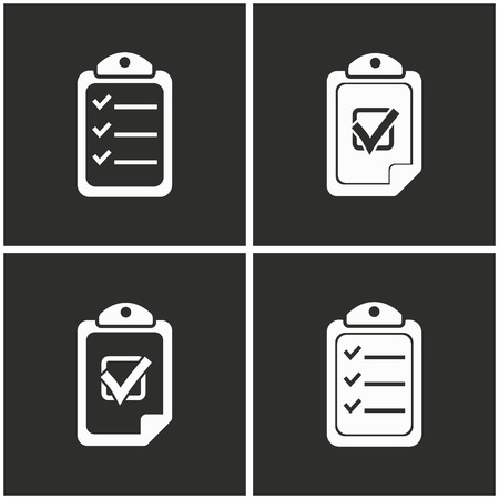 roster: Clipboard vector icons set. Illustration isolated for graphic and web design.