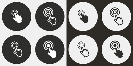 hit tech: Touch vector icons set. Illustration isolated for graphic and web design.