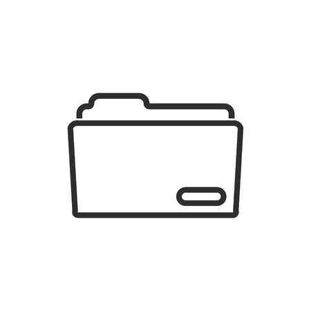 computer education: Folder vector icon. Illustration isolated for graphic and web design. Illustration