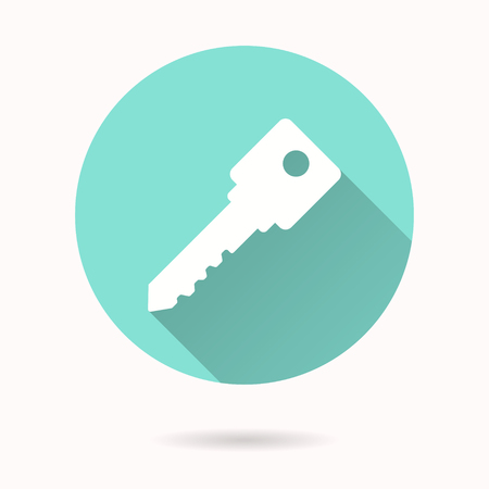 keyword: Key vector icon. Illustration isolated for graphic and web design.