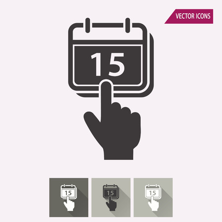 business meeting: Calendar vector icon. Illustration isolated for graphic and web design.