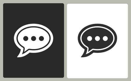 instant message: Chatting vector icon. Illustration isolated for graphic and web design.