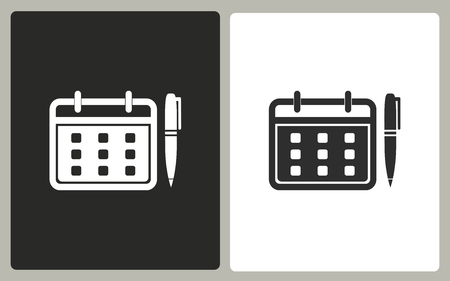 event planning: Planning calendar vector icon