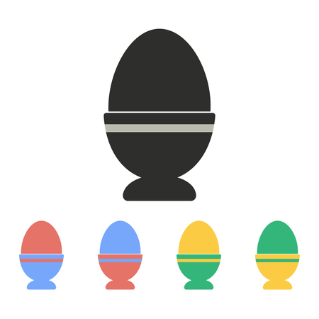 Egg vector icon. Illustration isolated for graphic and web design.