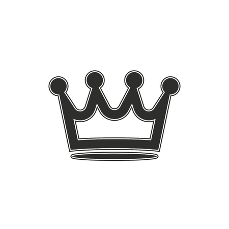 gemstone: Crown vector icon. Black illustration isolated on white background for graphic and web design.