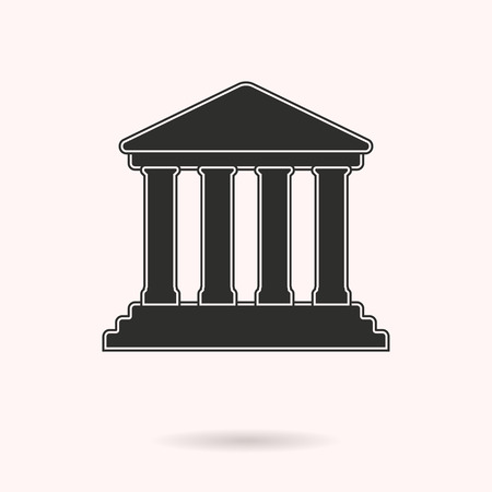 tribunal: Court vector icon. Black illustration isolated on white background for graphic and web design. Illustration