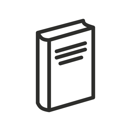 reader: Book vector icon. Illustration isolated for graphic and web design.