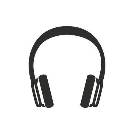 Headphone vector icon. Illustration isolated for graphic and web design. Illustration