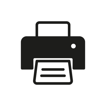 printout: Printer vector icon. Illustration isolated for graphic and web design. Illustration