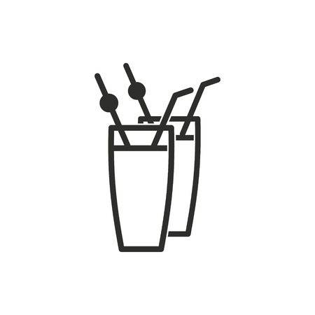 hard: Cocktail vector icon. Illustration isolated for graphic and web design.
