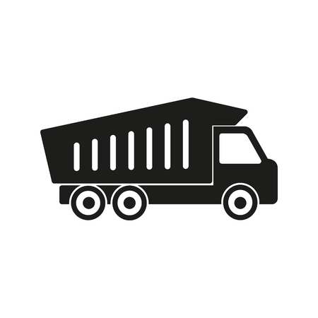 delivery truck: Truck vector icon. Black illustration isolated on white background for graphic and web design.