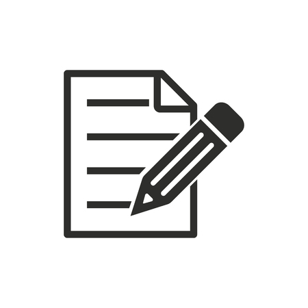 checklist: Clipboard vector icon. Black illustration isolated on white background for graphic and web design.