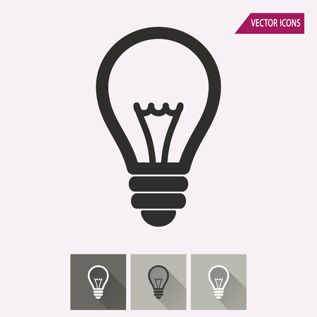 lamp light: Lamp vector icon. Illustration isolated for graphic and web design. Illustration
