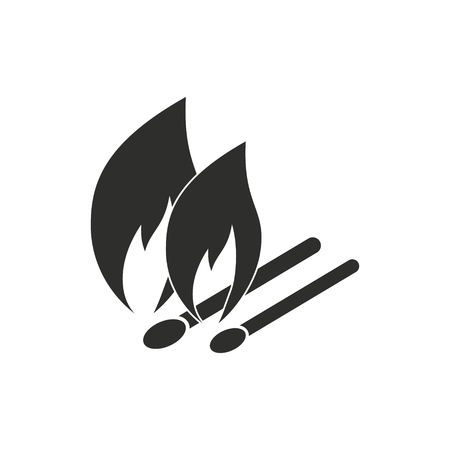 Match vector icon. Black illustration isolated on white background for graphic and web design.
