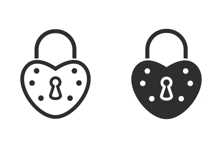 Lock vector icon. Black illustration isolated on white background for graphic and web design.