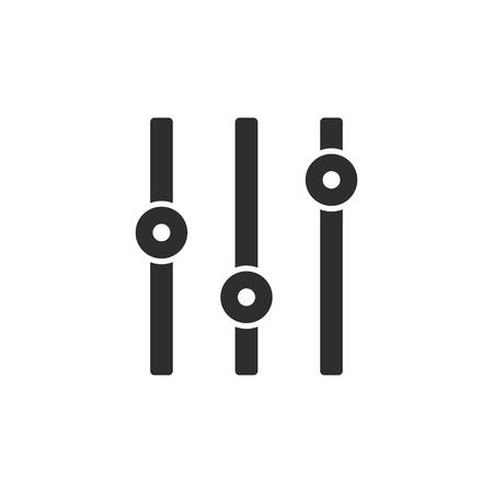 Adjustment vector icon.