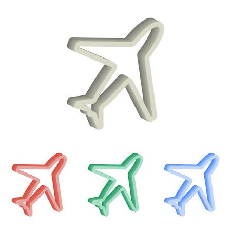 Airplane 3d isometric illustration. Illustration
