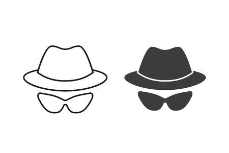 Anonymous vector icon. Black illustration isolated on white background for graphic and web design. Ilustrace