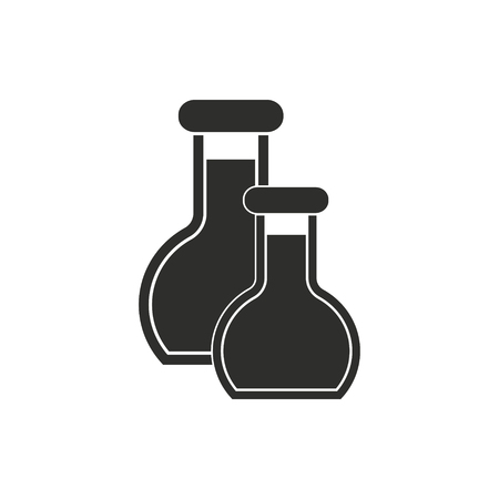 Flask vector icon. Black illustration isolated on white background for graphic and web design.