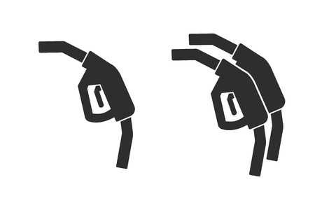 oil and gas industry: Fuel vector icon. Black illustration isolated on white background for graphic and web design.