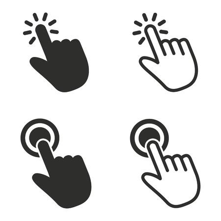 Touch-Vektor-Icons gesetzt. schwarze Abbildung getrennt für Grafik und Webdesign. Standard-Bild - 87659824