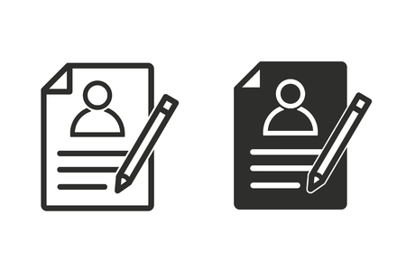 Registration vector icon. Black illustration isolated on white background for graphic and web design.