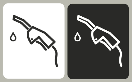 Fuel - black and white vector icons for graphic and web design.