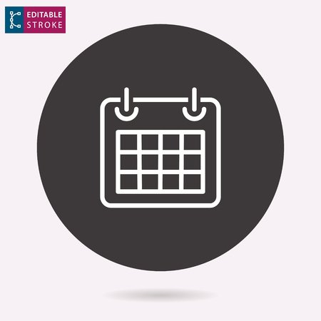 Calendar - outline icon. Editable stroke, vector illustration.