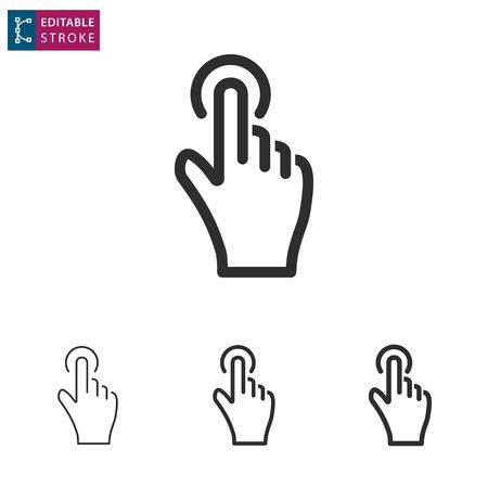 CHalotes - contour icône sur fond blanc. modifiable modifiable illustration vectorielle Banque d'images - 92030229