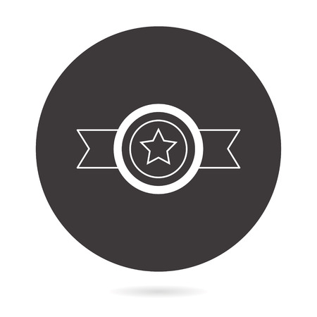 Award vector icon. Illustration isolated for graphic and web design. Round button.