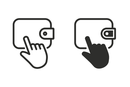 Click vector icon. Black illustration isolated on white background for graphic and web design. Illustration