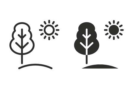 Ecology vector icon. Black illustration isolated on white background for graphic and web design.