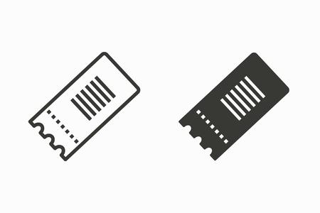 チケットベクトルアイコン。グラフィックとウェブデザイン用に分離された黒いイラスト。 写真素材 - 95577571