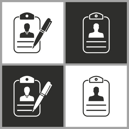 Address book - black and white vector icons for graphic and web design.