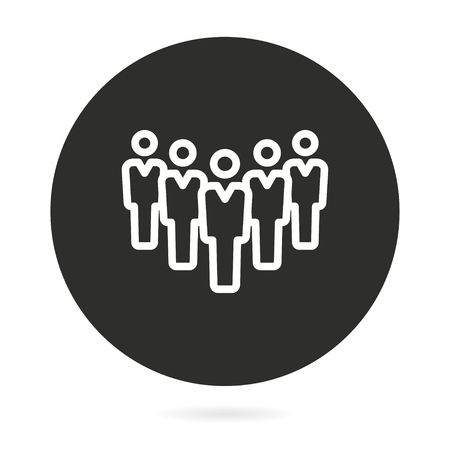 People vector icon. Illustration isolated for graphic and web design. 矢量图像