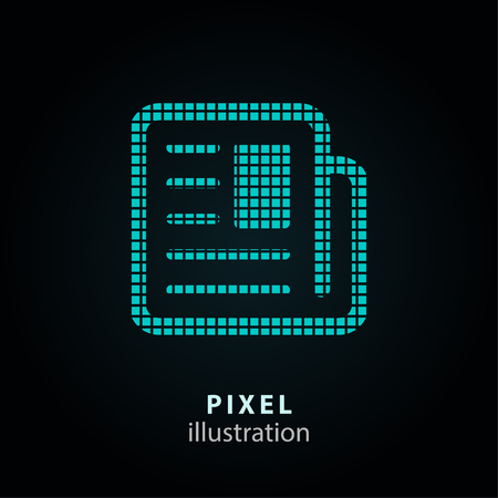 Newspaper or news article pixel icon. Vector Illustration. 向量圖像