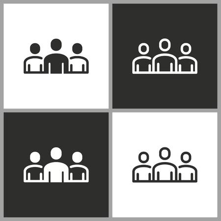 People - black and white vector icons for graphic and web design.