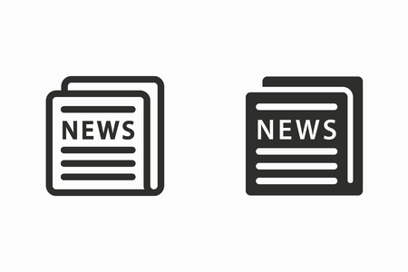 News vector icon. Black illustration isolated for graphic and web design.