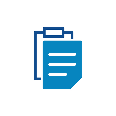 vectorl agenda icon, cipboard illustration, list symbol Illustration