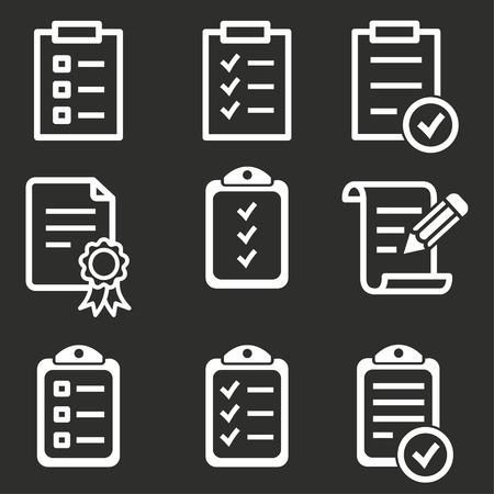 Vectorl clipboard icon, agenda illustration, list symbol Illustration