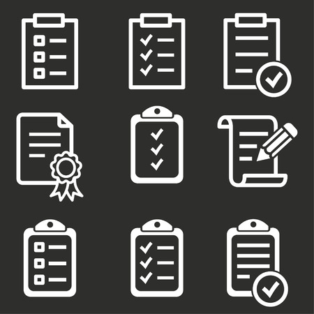 Vectorl clipboard icon, agenda illustration, list symbol Illusztráció