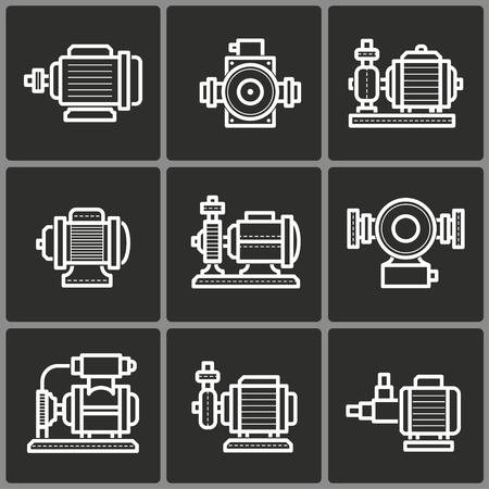Water pump icon, vector illustration Illustration