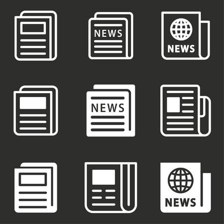 Newspaper icon - news symbol, vector article illustration